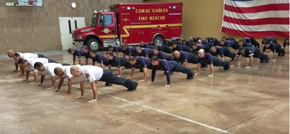 fire department push up