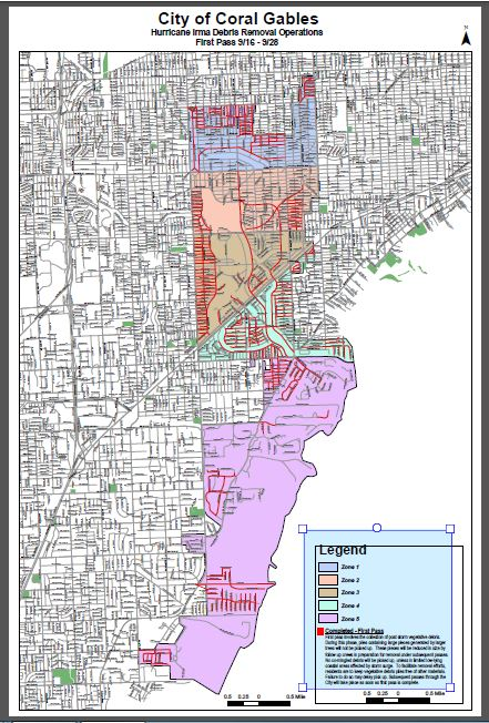 Map Debris Removal Operations