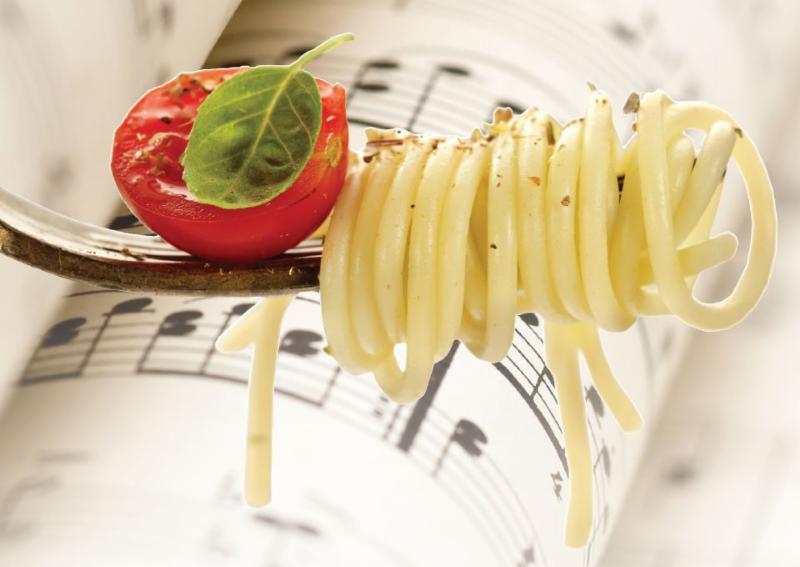 Pasta y musica italiana