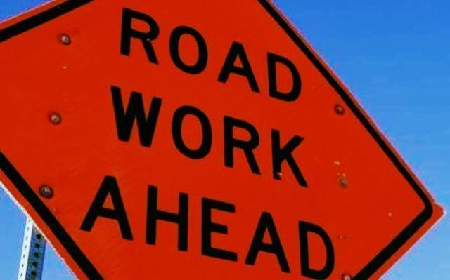 road work ahead public works