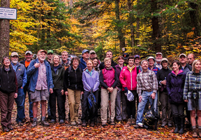 Photo of hiking group by Jeffrey Newcomer
