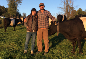 Photo of Sarah Costa and Sam Canonica courtesy of Manning Hill Farm