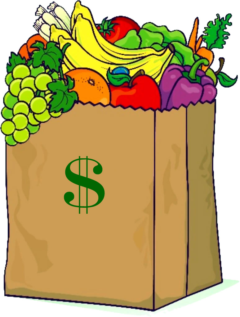Image of paper bag full of groceries