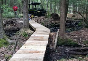 Photo of trail bridge by Swift Corwin