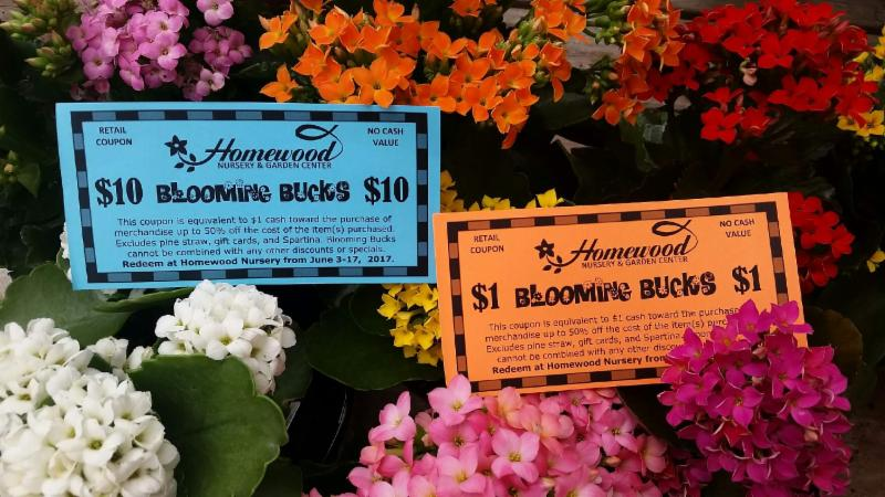 Greetings From Homewood Nursery I T S That Time To Redeem Your Blooming Bucks June 3rd 17th