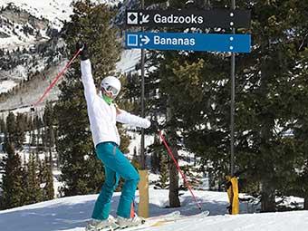 Skier at Snowbird