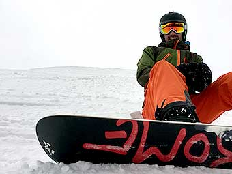 Snowboarder at 2016 Conference at Big Sky