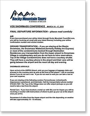 Final Departure Instructions letter