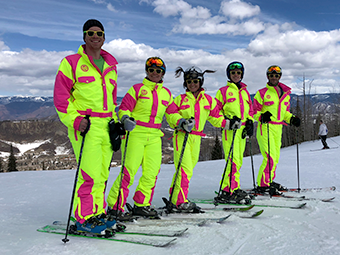 Skiers at the VOS 2018 Conference at Snowmass