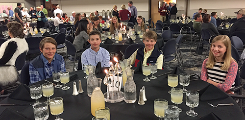 Children of VOS members at the 2017 banquet