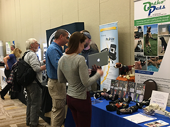 VOS 2018 attendees interact with sponsors and exhibitors