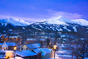 Breckenridge town and peak