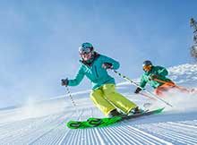 Skiers at Snowmass