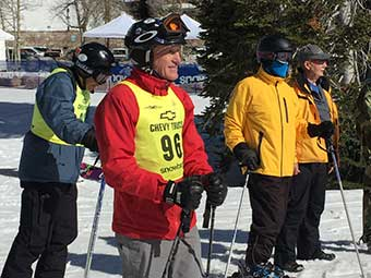 Skier at Snowbird_ Utah