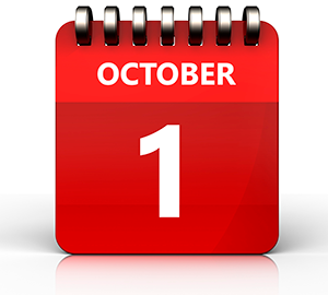 October 1 on calendar