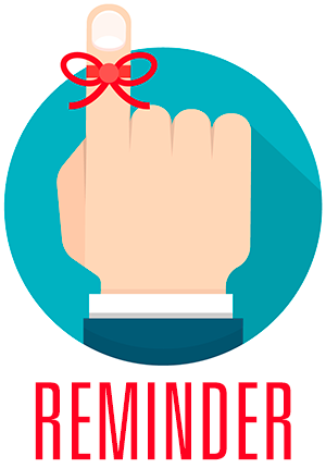Reminder graphic