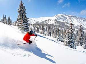Skier at Snowmass_ Colorado