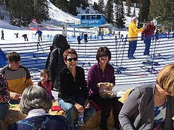 Guests at the Snowbird on-mountain picnic