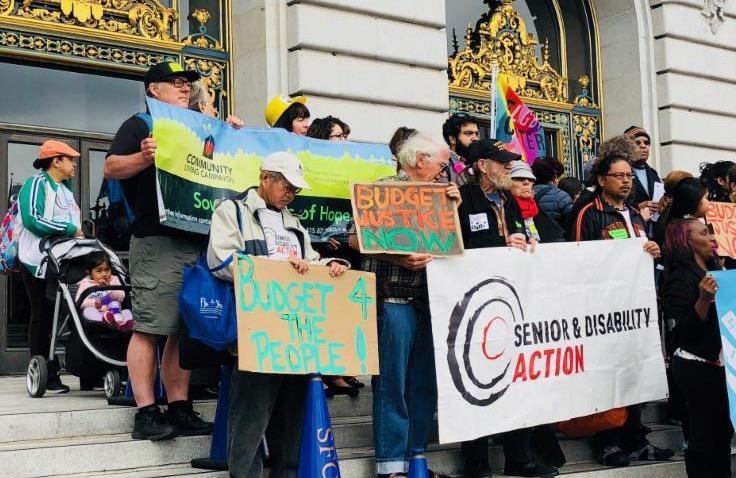 Rally on steps of City Hall