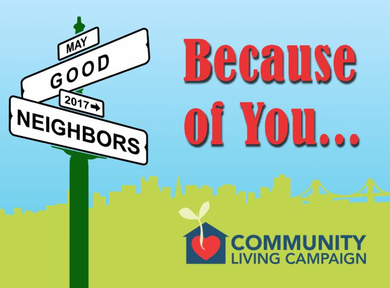 postcard front - Good Neighborhood - because of You_
