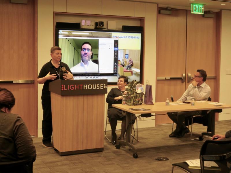 speakers at a preparedness workshop