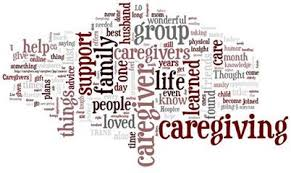 image of words about caregiving and support