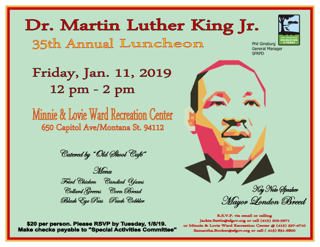 Flyer about MLK Luncheon