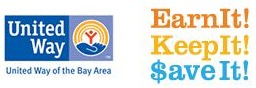 United Way logo with words earn it_ keep it save it