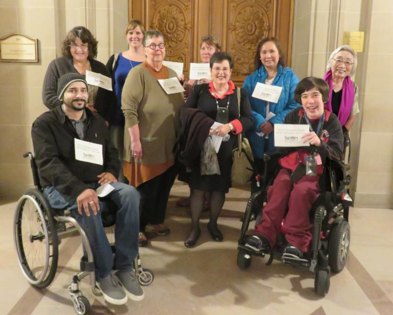 advocates in front of supervisors chambers