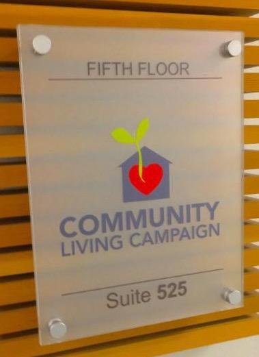 sign on office door