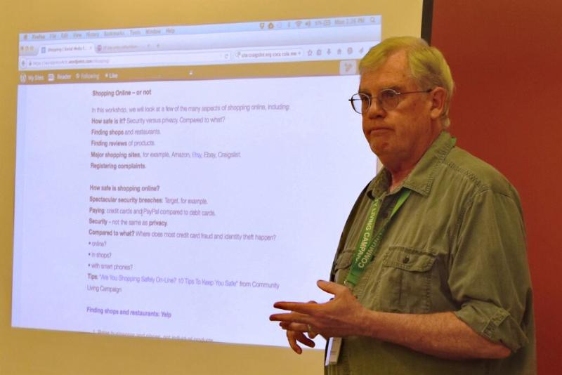 rob McBride in front of powerpoint
