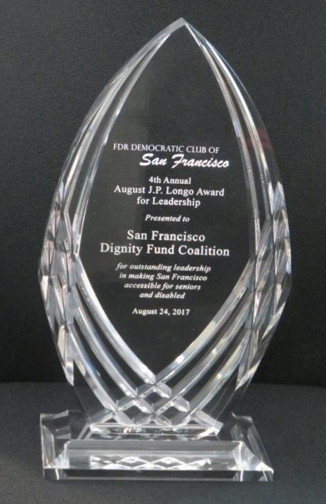 photo of glass award