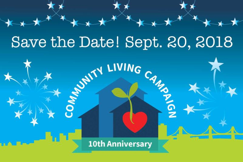save the date card for 10th anniversary September 2018