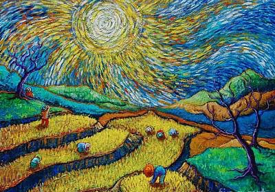 artist's image of the Philippine countryside