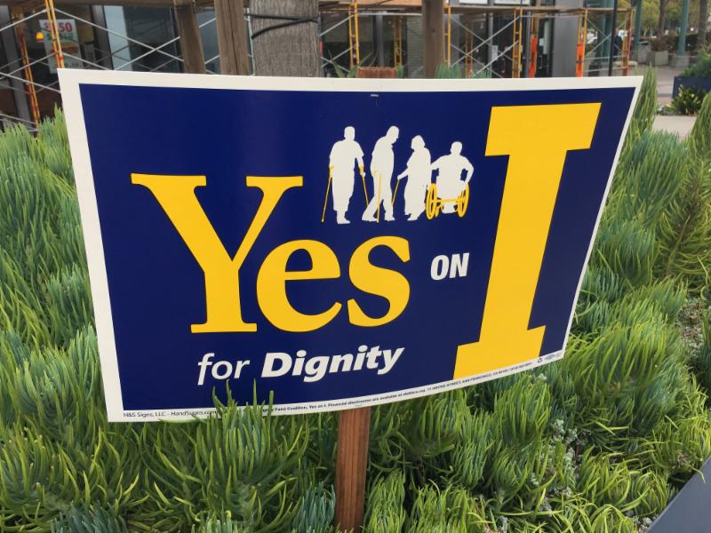 Yes on Prop I sign
