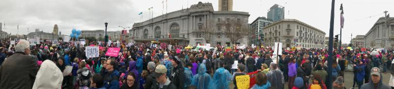 panoramic view of the recent women_s march