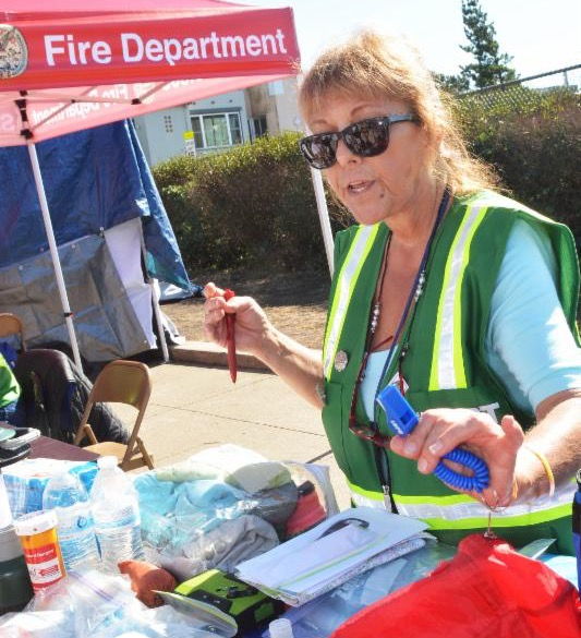picture of Darlene at outreach table