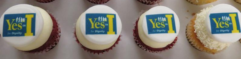 cupcakes that say Yes on I