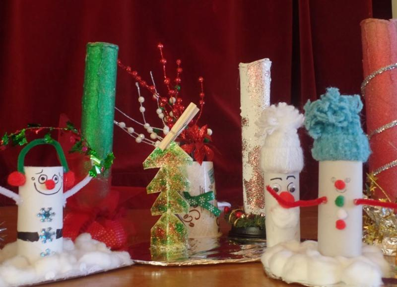 holiday decorations made by hand