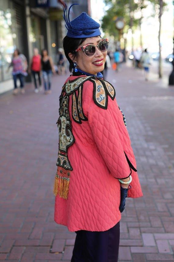 asian woman in self-designed jacket