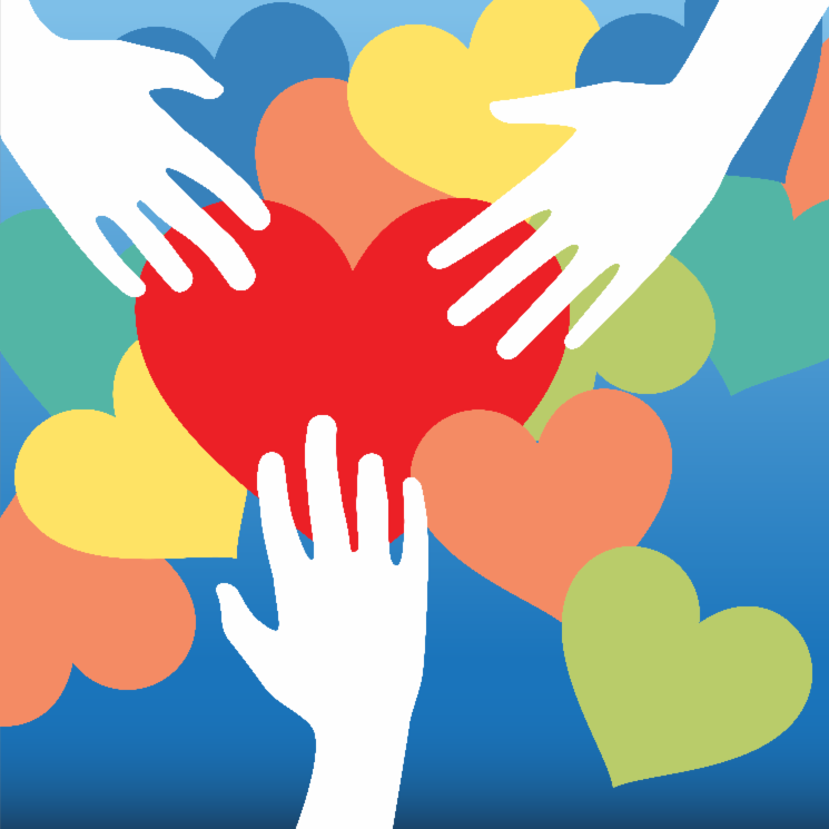 image of hands reaching to hearts