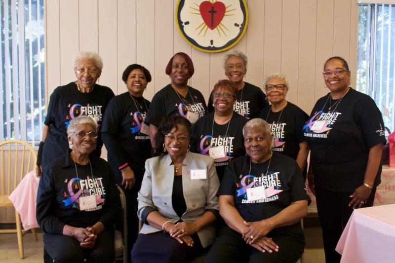 group of women at breast cancer support group