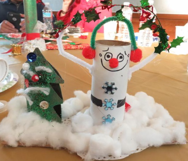 picture of a silly craft snowman
