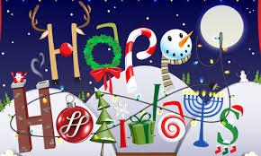 logo that says Happy Holidays