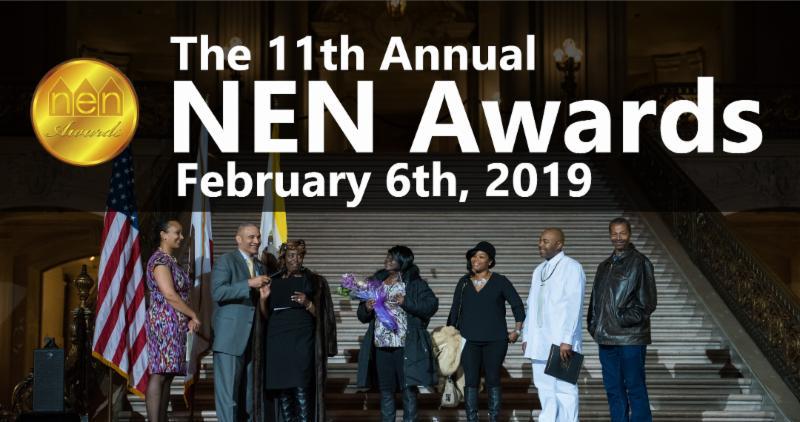 poster for the NEN Awards