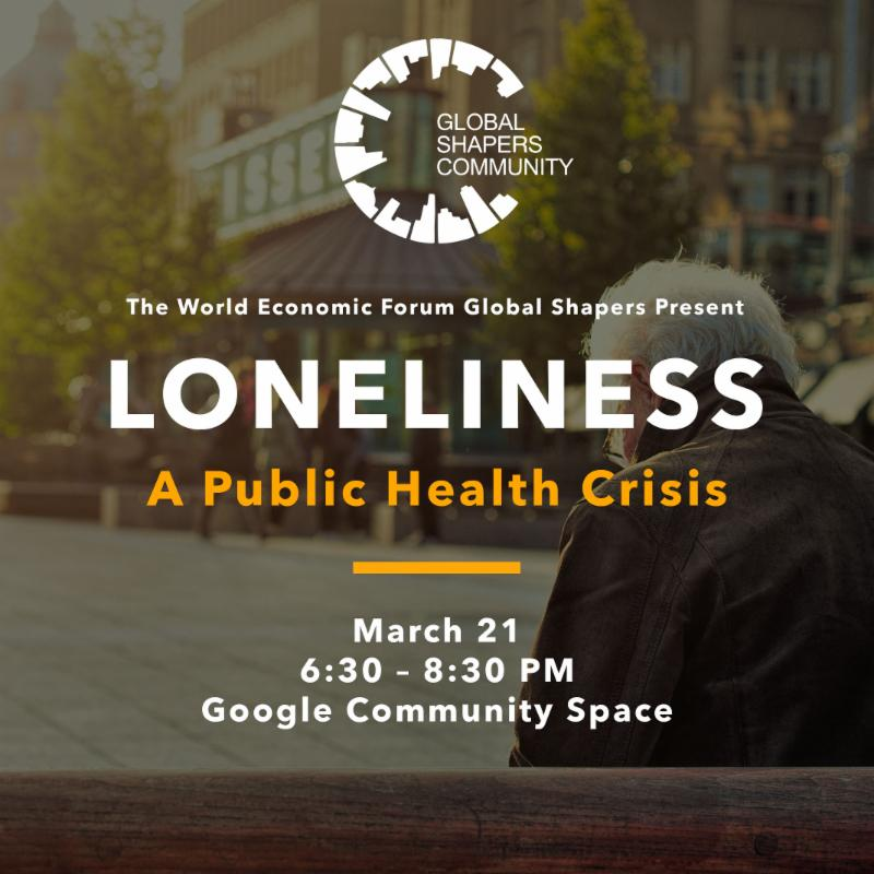 poster that describes Loneliness as a public health crisis