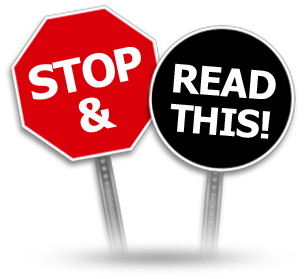 two signs that say Stop and Read This
