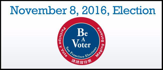 Nov. 8 Election - Be A Voter
