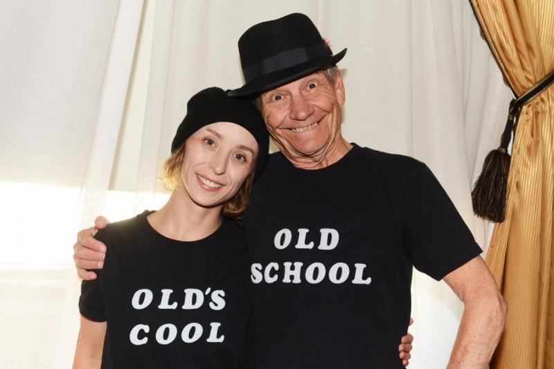 young and old persons wearing t-shirt