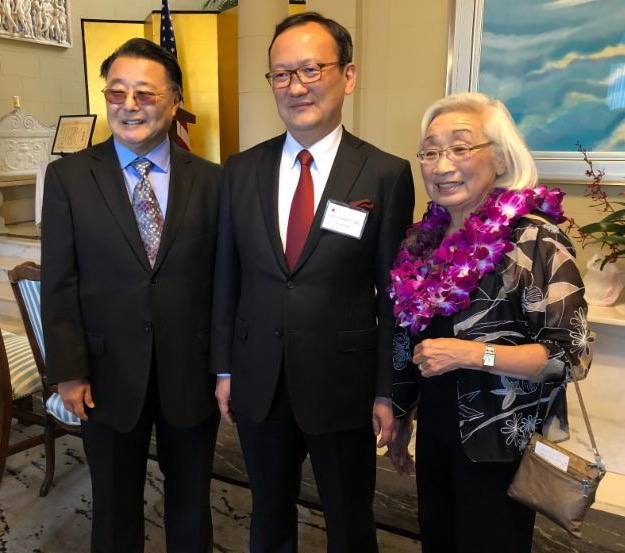 Sandy with husband and Consul General of Japan